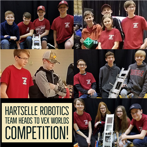 Hartselle Robotics Team Heads to VEX Worlds Competition!