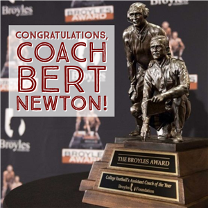 Newton Receives Broyles Award