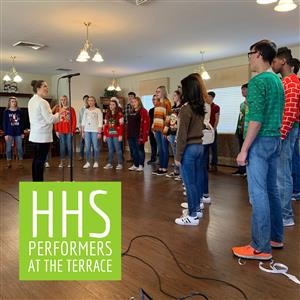 HHS Performers Sing at The Terrace